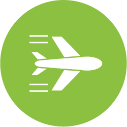 Airplane contrails icon