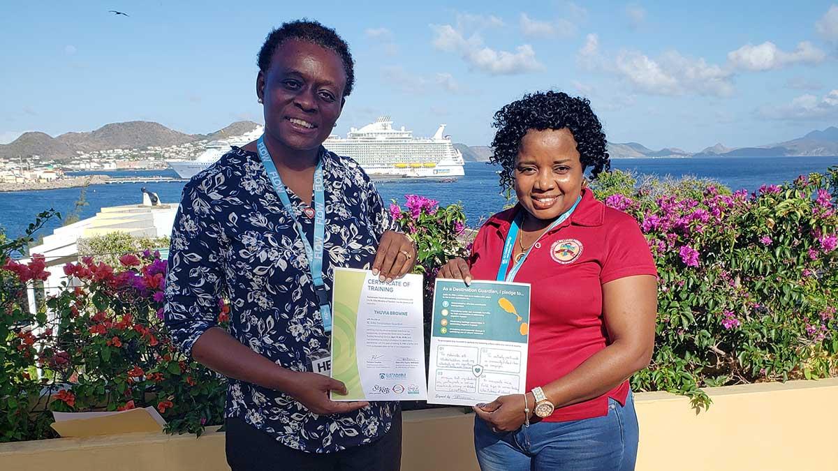 Thuvia Browne receives her Destination Guardian training certificate