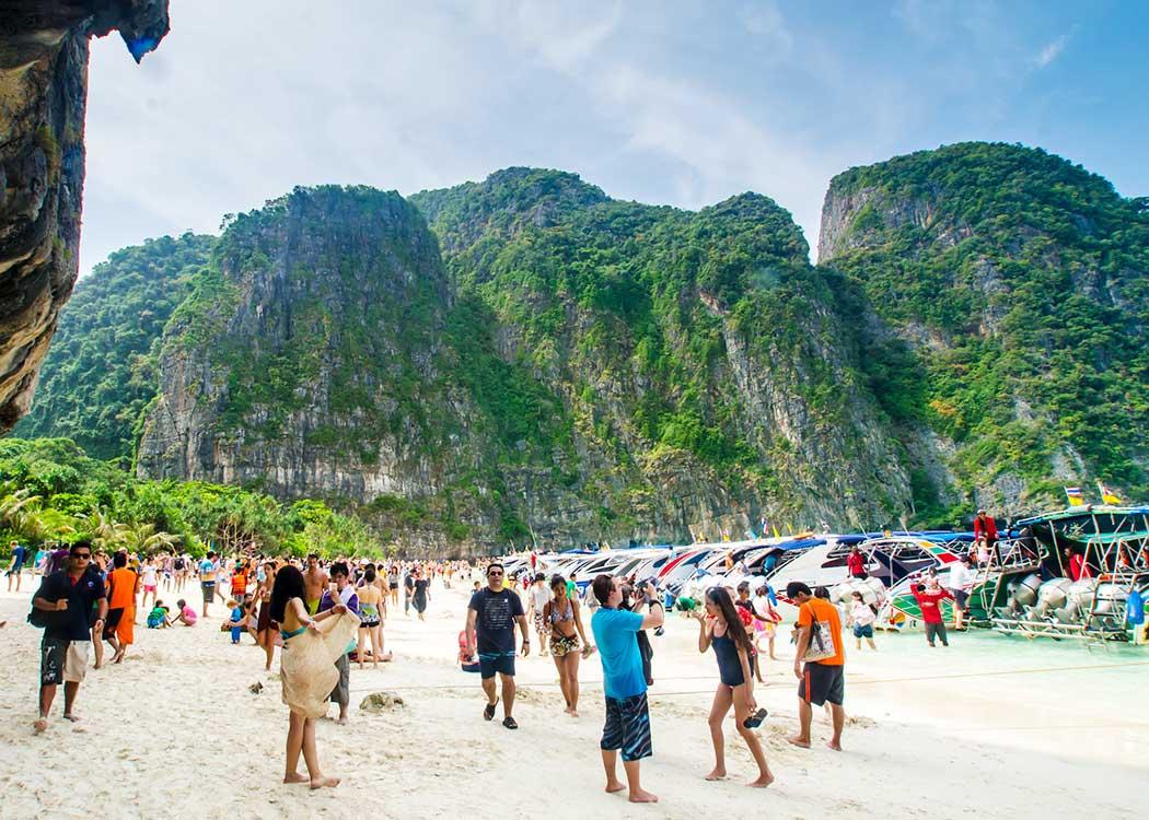 Crowded Maya Bay Thailand