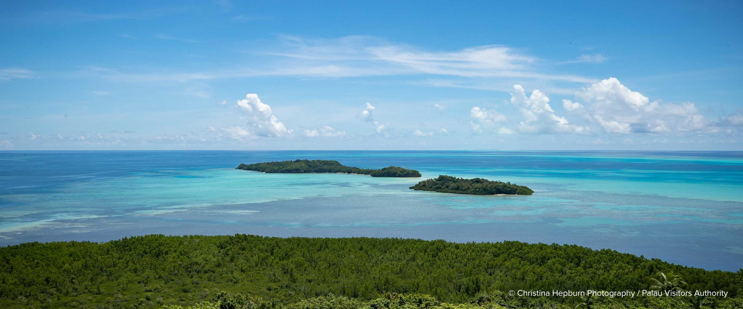 Palau ocean and land view