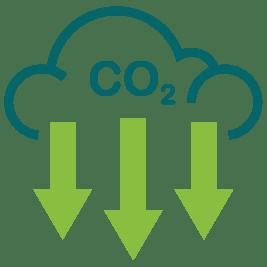 reduce co2 icon